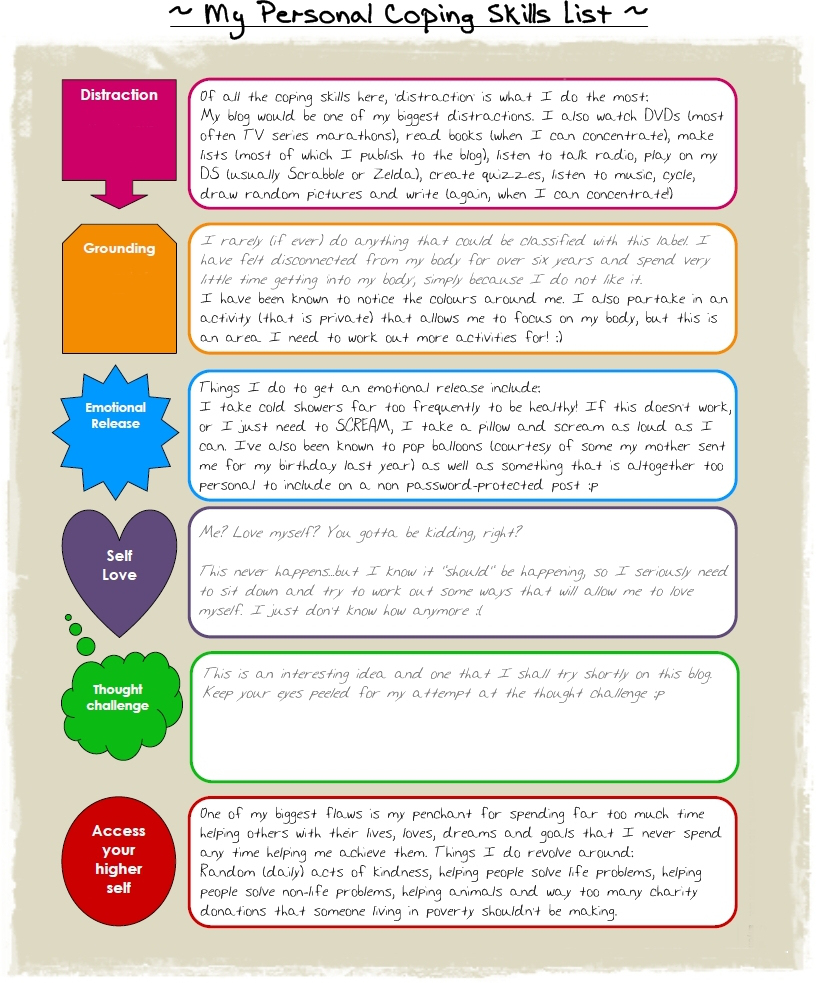 10+ Coping Skills Worksheets For Adults And Youth (+ Pdfs)   Free Printable Coping Skills Worksheets For Adults