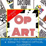 10 Optical Illusions! 10 Printable Worksheets And 23 Examples | Art | Optical Illusion Worksheets Printable
