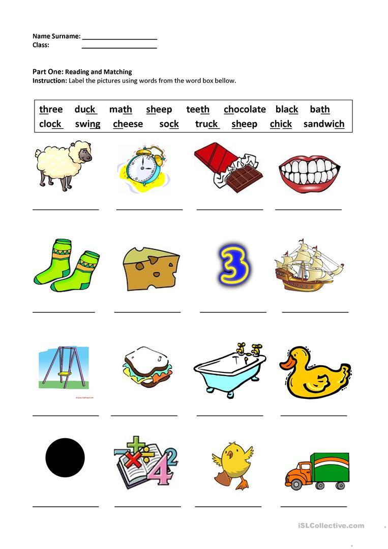 13 Free Esl Digraphs Worksheets - Free Printable Ch Digraph | Printable Ch Worksheets