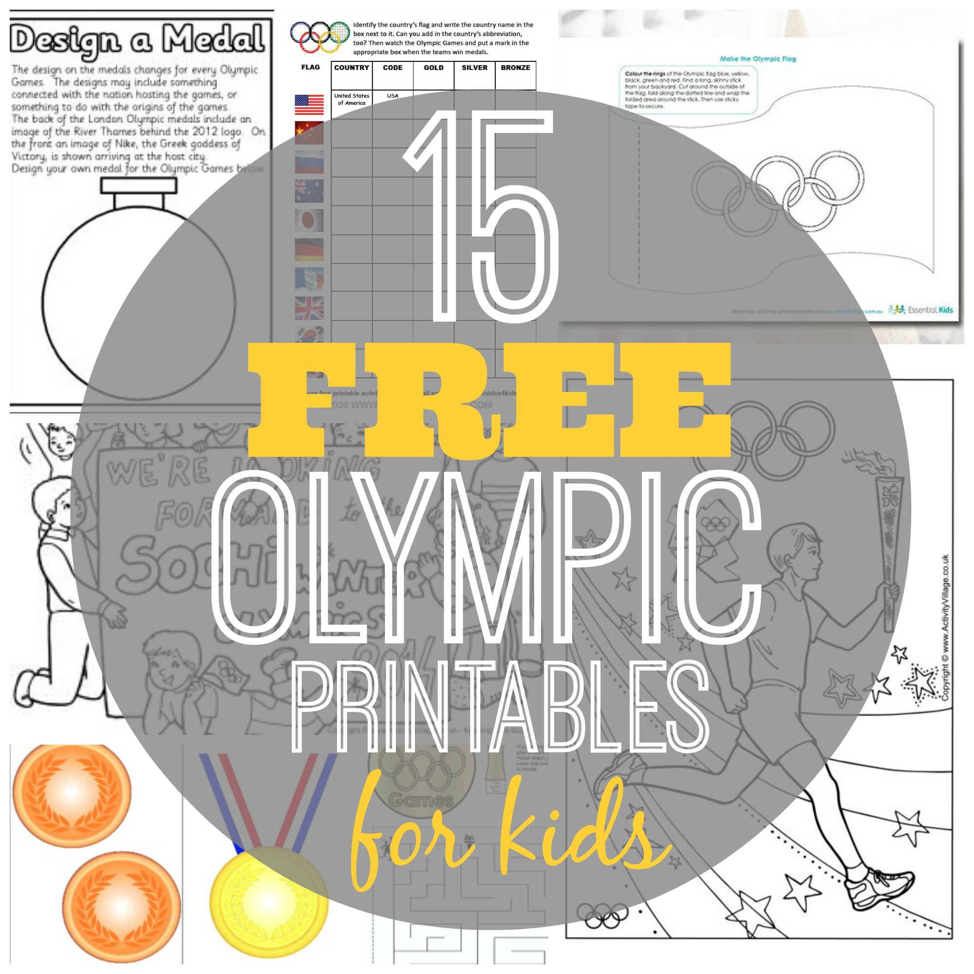 15 Free Olympic Printables For Kids | Olympic Printable Worksheets