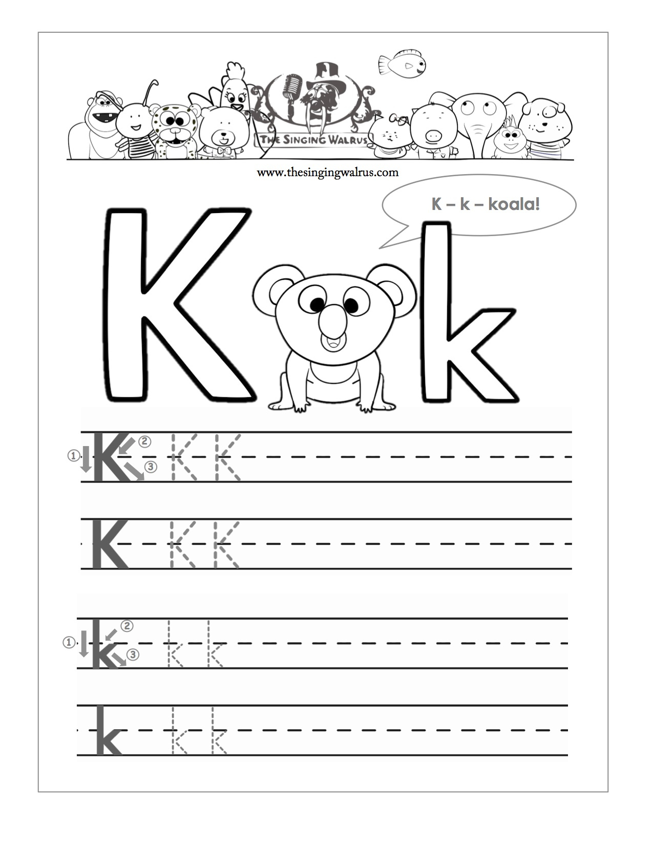 15 Learning The Letter K Worksheets | Kittybabylove | Letter K Worksheets Printable