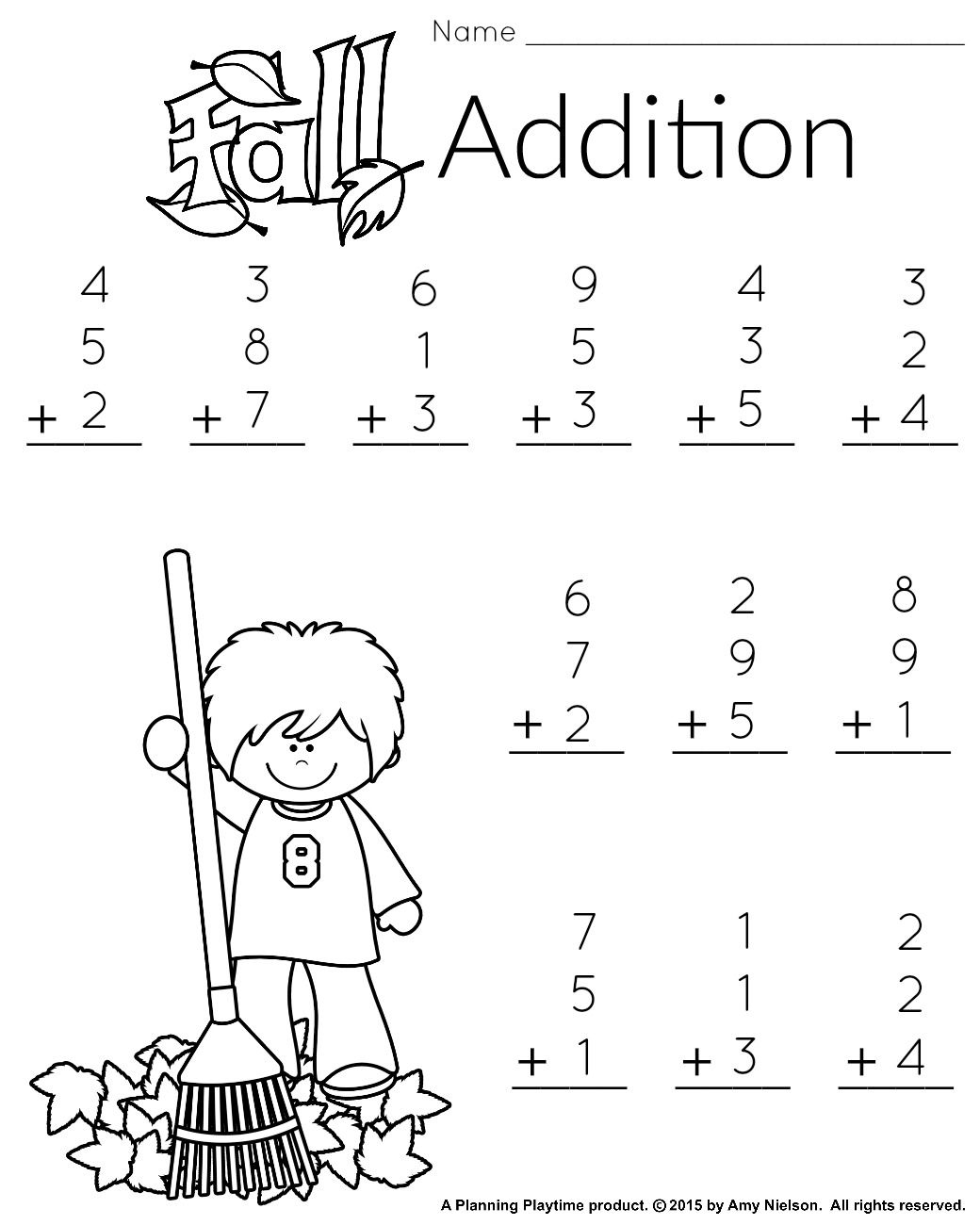 1St Grade Math And Literacy Worksheets With A Freebie! | Teachers | Free Printable Math Worksheets For 1St Grade Addition