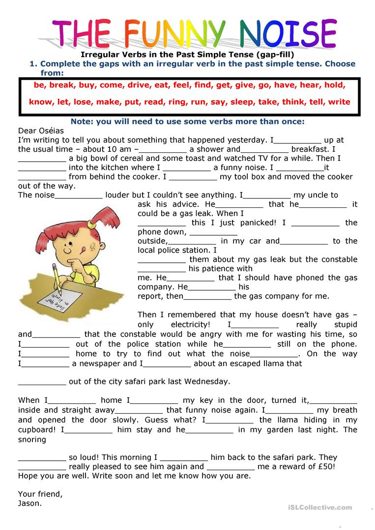 2421 Free Esl Past Simple Tense Worksheets - Free Printable Past | Past Simple Printable Worksheets