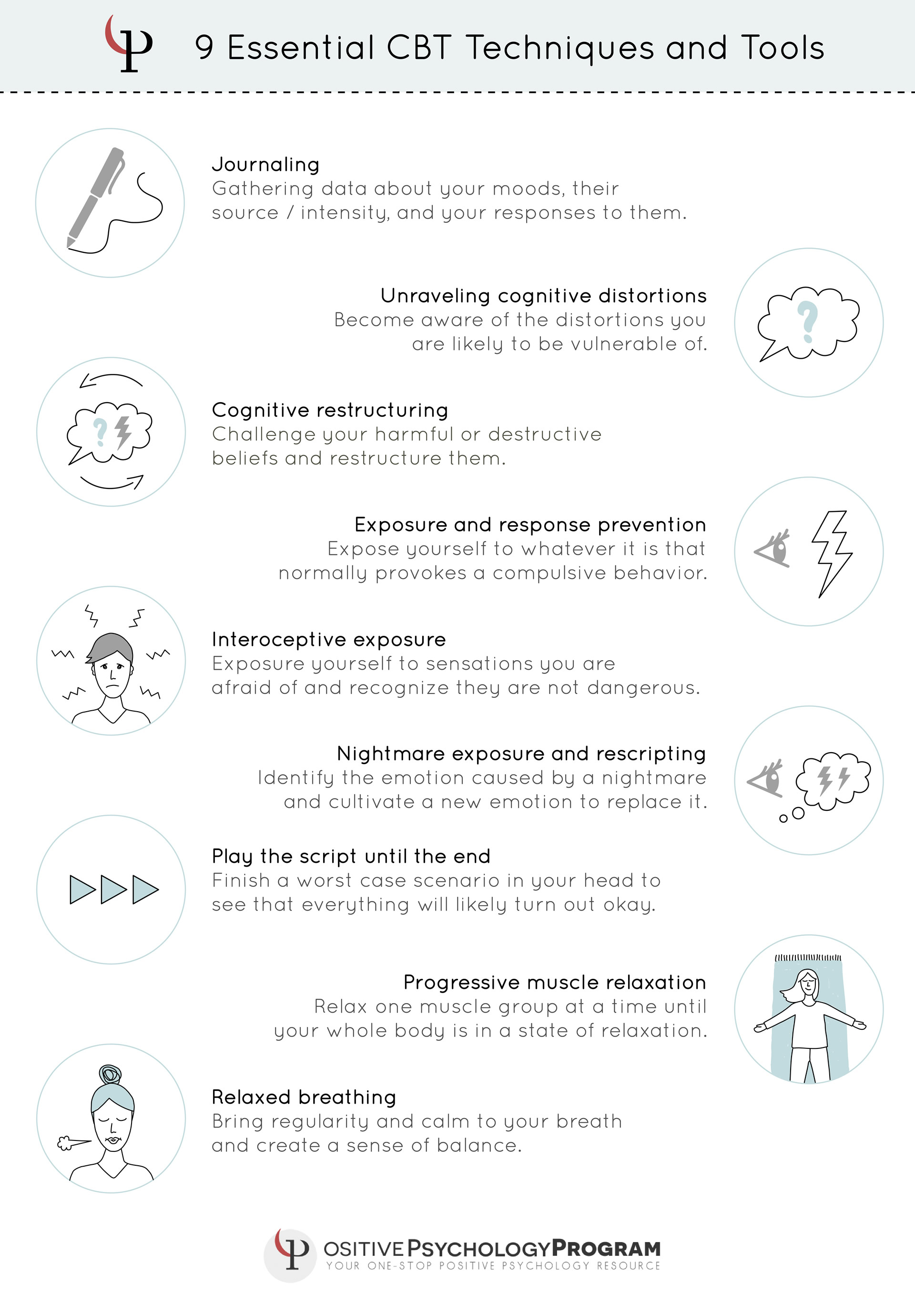 25 Cbt Techniques And Worksheets For Cognitive Behavioral Therapy | Printable Mental Health Worksheets