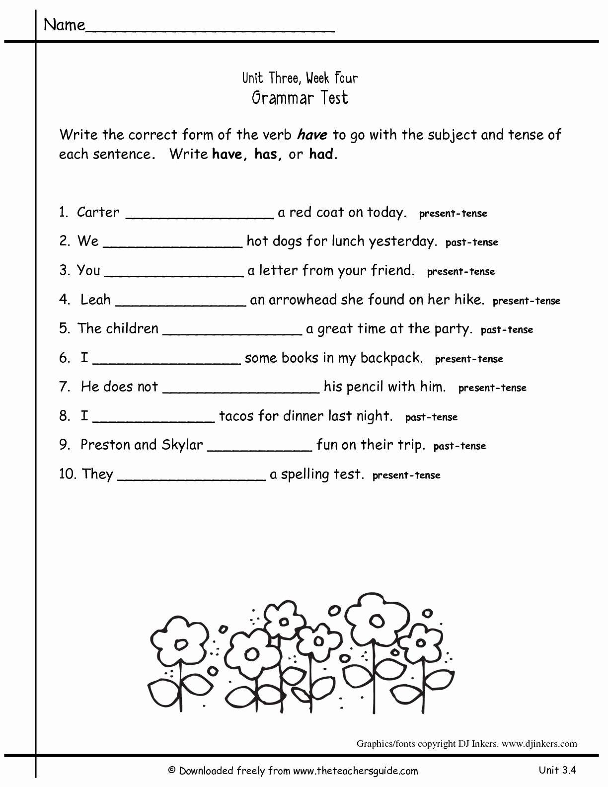 2Nd Grade Grammar Worksheets Pdf New Worksheets For All Download And | 2Nd Grade Grammar Printable Worksheets