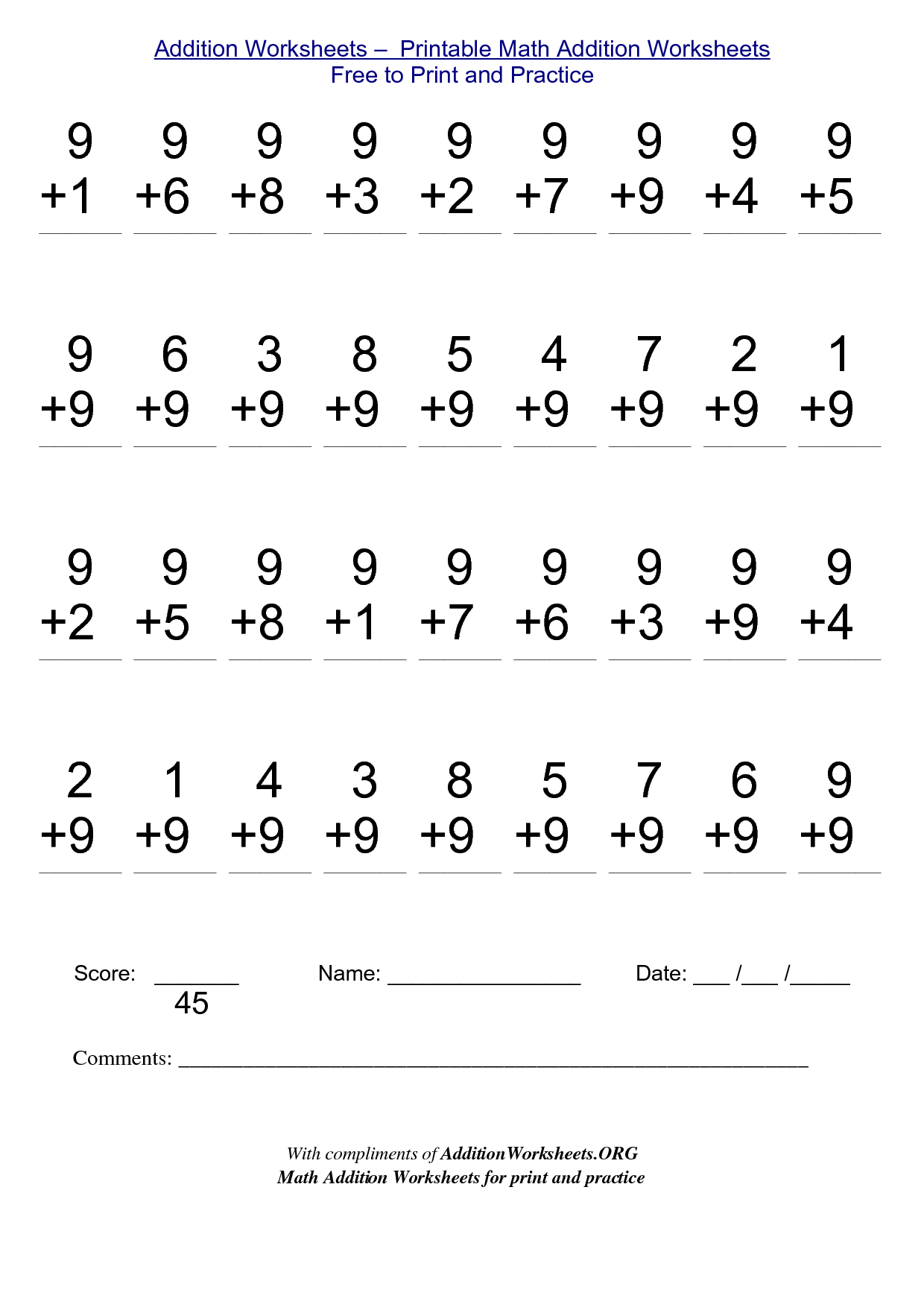 2Nd Grade Stuff To Print | Addition Worksheets - Printable Math | Free Printable Second Grade Math Worksheets