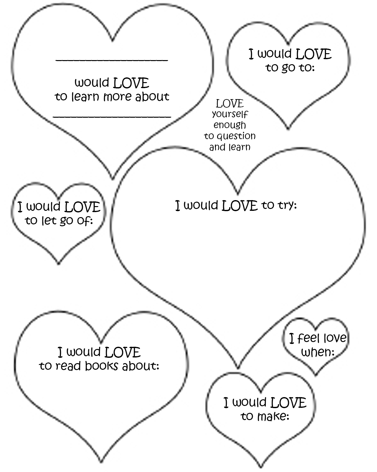 30 Self Esteem Worksheets To Print   Kittybabylove   Self Esteem Printable Worksheets For Kids