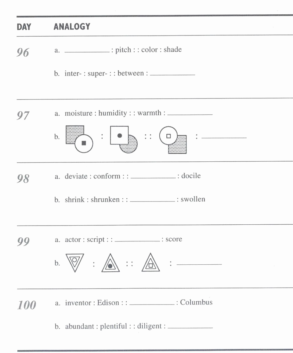 4Th Grade Analogies Worksheets Luxury Kindergarten K12 Worksheets | Analogy Worksheets For Middle School Printables