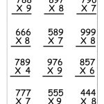4Th Grade Multiplication Worksheets   Best Coloring Pages For Kids   4Th Grade Printable Multiplication Worksheets
