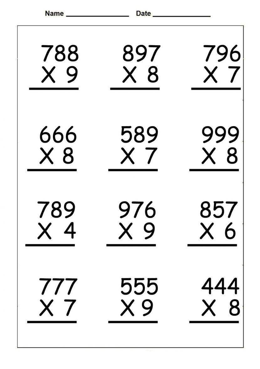 4Th Grade Multiplication Worksheets - Best Coloring Pages For Kids | 4Th Grade Printable Multiplication Worksheets