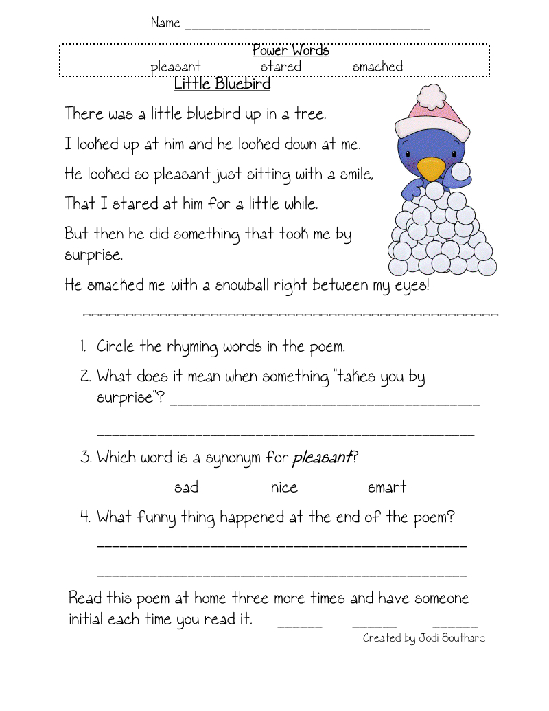 4Th Grade Reading Worksheets To Printable - Math Worksheet For Kids | Free Printable 4Th Grade Reading Worksheets