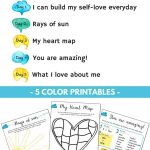 5 Day Self Love Challenge For Children   Therapy Tools   Self Esteem   Self Esteem Printable Worksheets For Kids