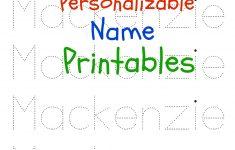 Printable Name Tracing Worksheets