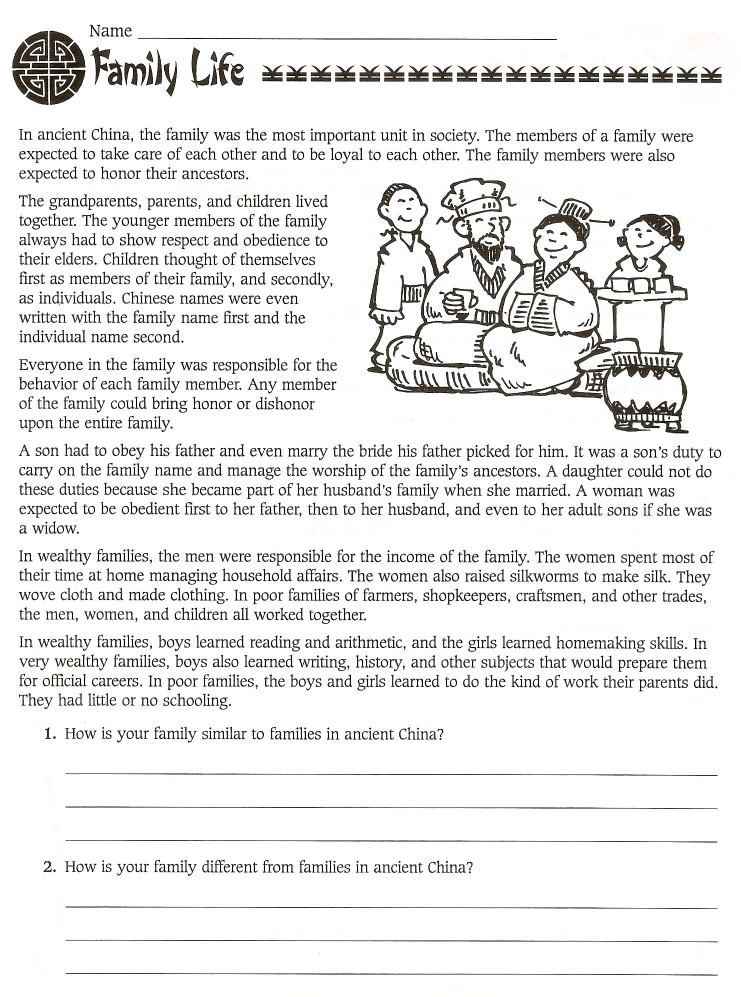 6Th Grade Social Studies Ancient China Worksheets - Free | Great Wall Of China Printable Worksheet