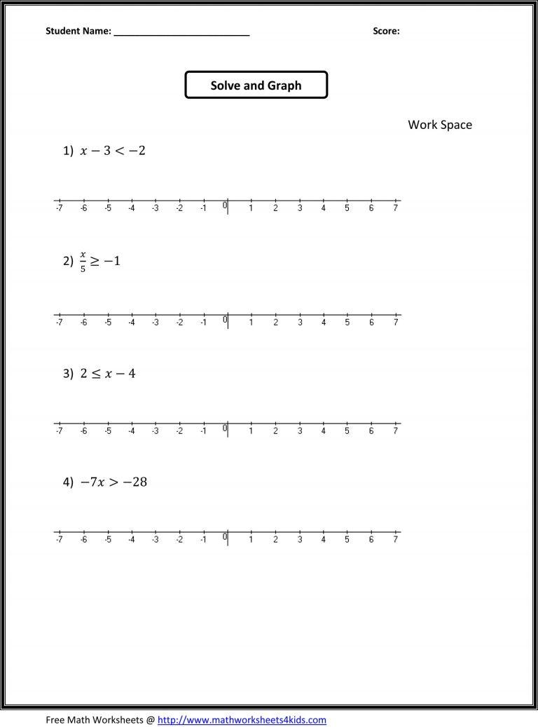 7Th Grade Worksheets Free 7Th Grade Math Worksheets Free Printable | Free Printable 7Th Grade Math Worksheets