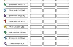 A 5 Minute Activity Verbs Worksheet – Free Esl Printable Worksheets | Printable Aphasia Worksheets