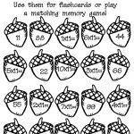 Acorn Multiplication Math Worksheet : Printables For Kids – Free   Free Printable Fall Math Worksheets