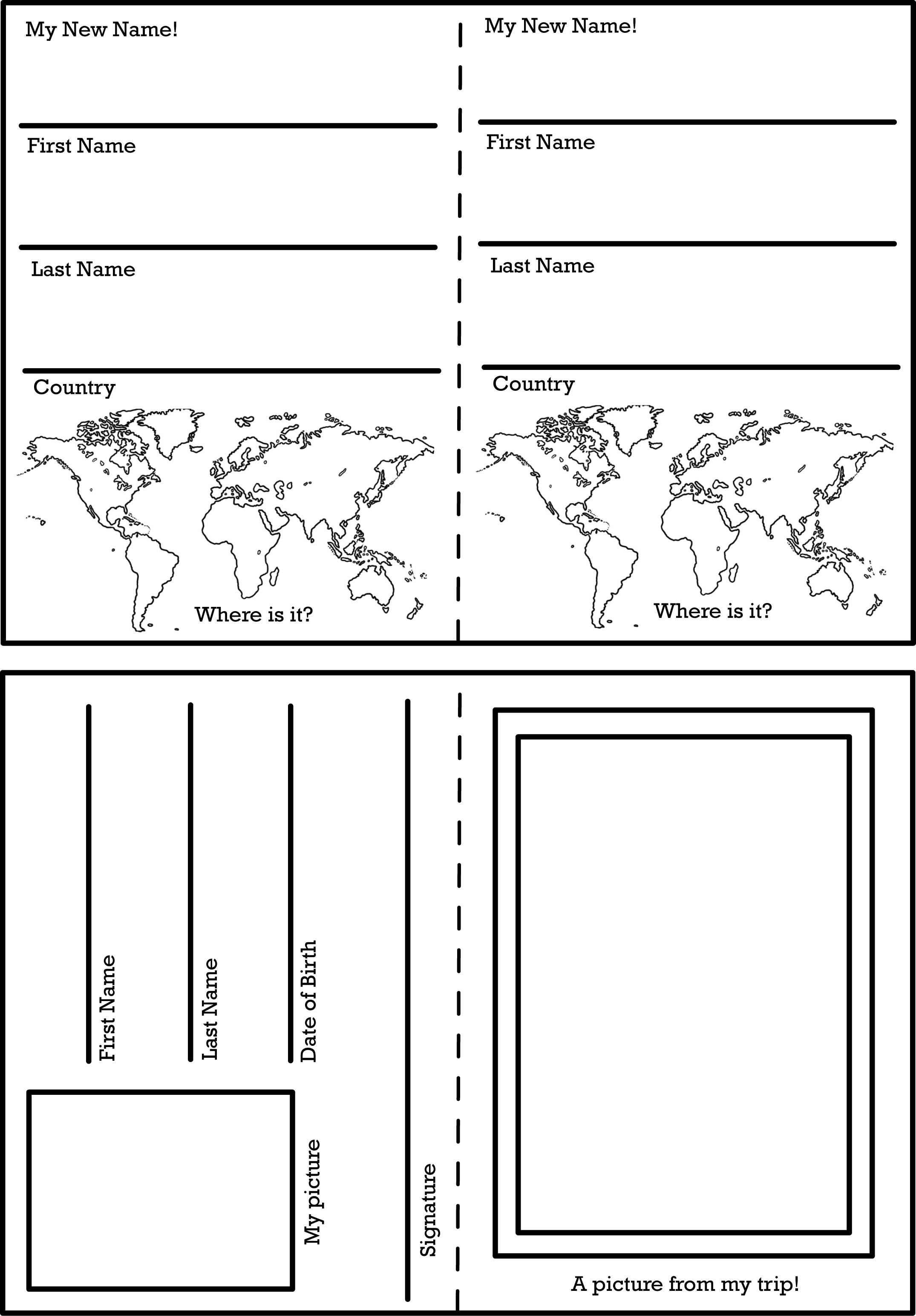 Activity Worksheets And Printables | The Change Your Name Store | Canada Food Guide Printable Worksheets