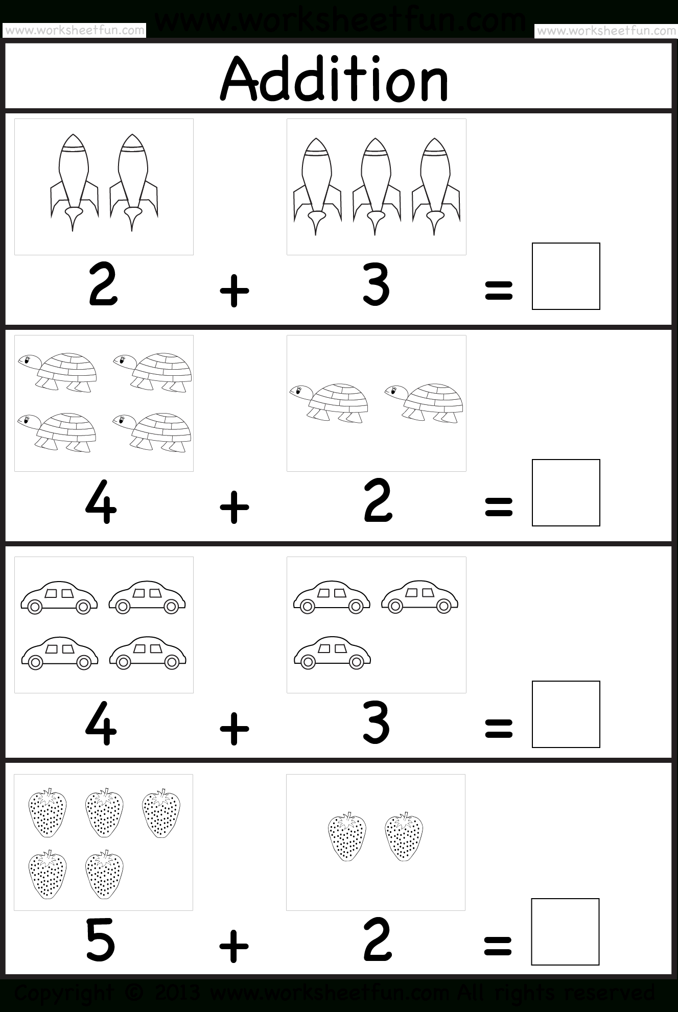 Addition Worksheet. This Site Has Great Free Worksheets For | Free Printable Preschool Addition Worksheets