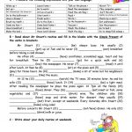 Adults' Daily Routine Worksheet   Free Esl Printable Worksheets Made | Daily Routines Printable Worksheets