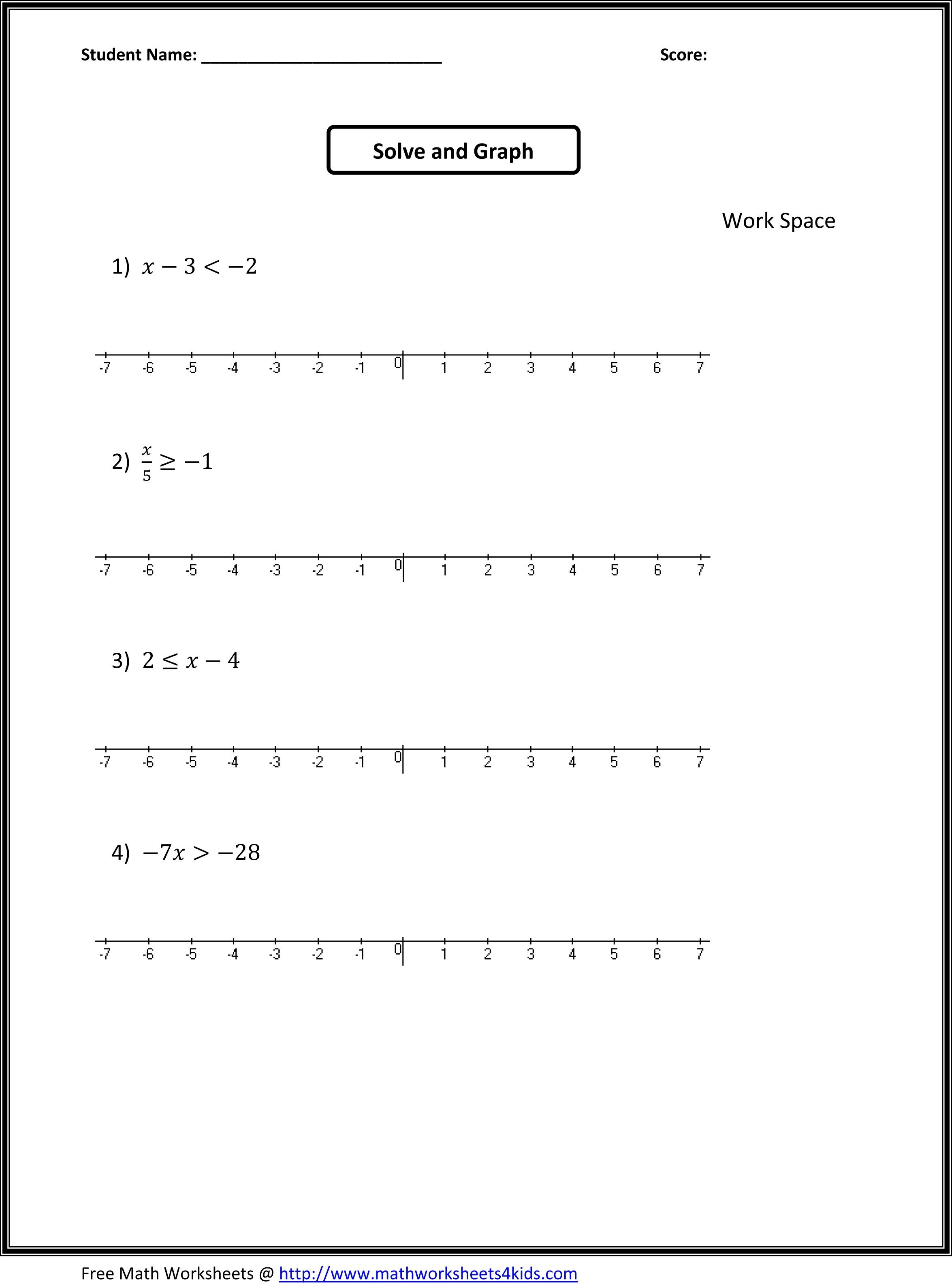 Algebra: 7Th Grade Math Expressions Worksheets Printable Worksheet | 7Th Math Worksheets Printable