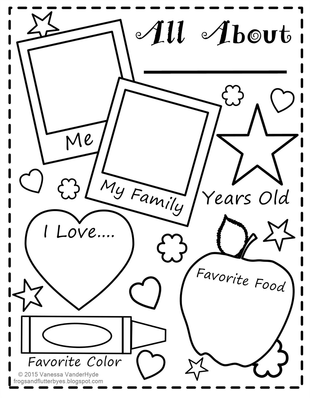 All About Me Worksheet All About Me Free Printable Worksheets - Free | All About Me Printable Worksheets
