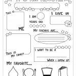 All About Me Worksheet   Free Esl Printable Worksheets Made | All About Me Worksheet Preschool Printable