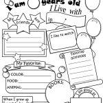 All About Me Worksheet Freebie   Cute! | Language Arts | All About | All About Me Worksheet Preschool Printable