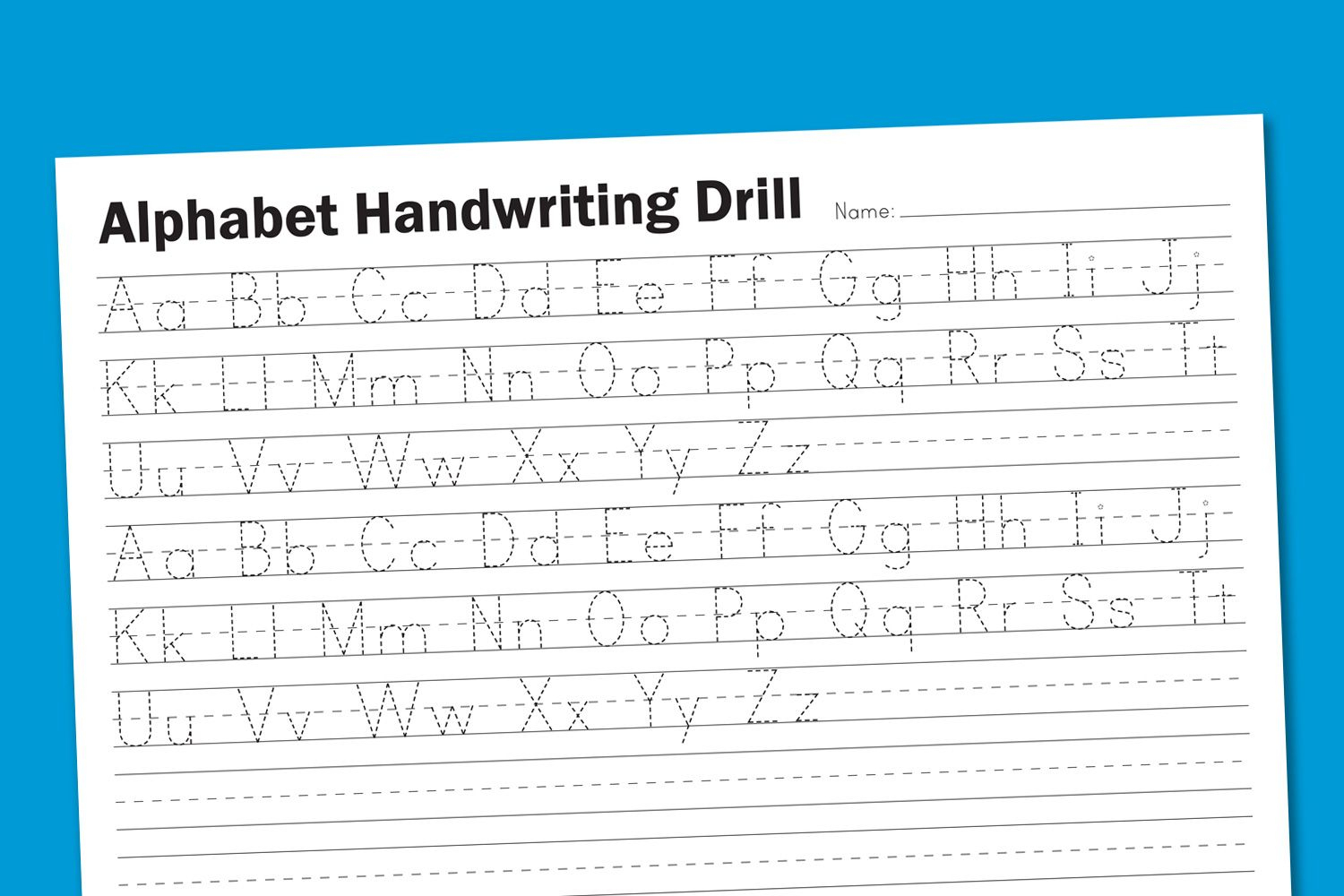 Alphabet Handwriting Drill | School Rules | Handwriting Worksheets | Printable Alphabet Handwriting Worksheets