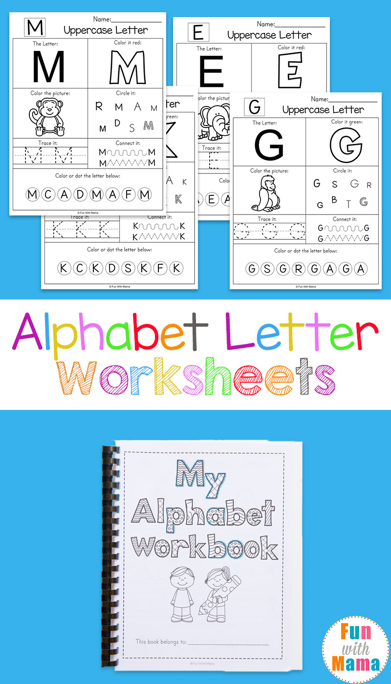 Alphabet Worksheets - Fun With Mama | Printable Letter Worksheets For Preschoolers