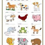 Animal Sounds. (Key Included) Worksheet   Free Esl Printable | Animal Sounds Printable Worksheets