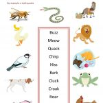 Animal Sounds Worksheet   Free Esl Printable Worksheets Madeteachers | Animal Sounds Printable Worksheets