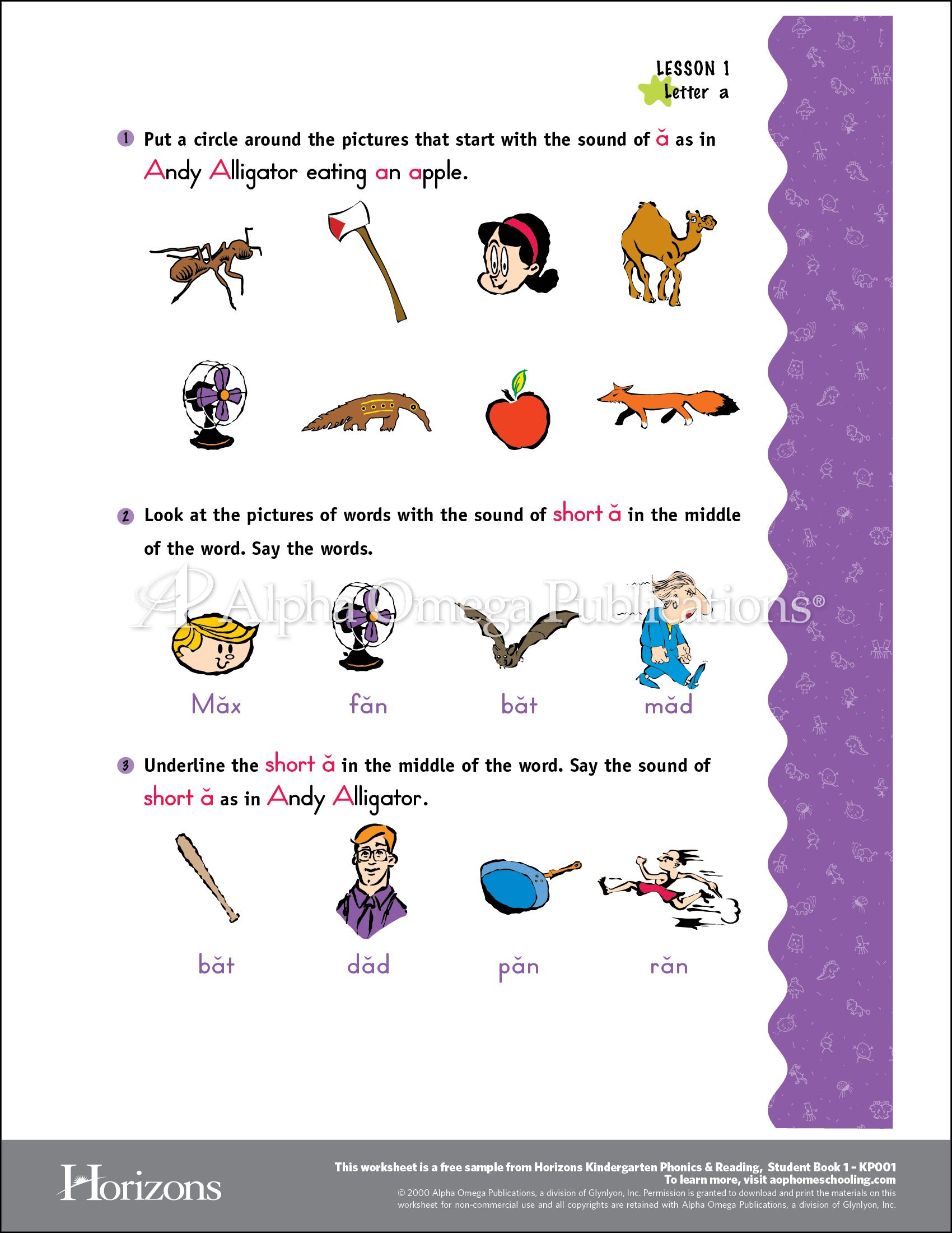 Aop Horizons Free Printable Worksheet Sample Page Download For   Free Homeschool Printable Worksheets