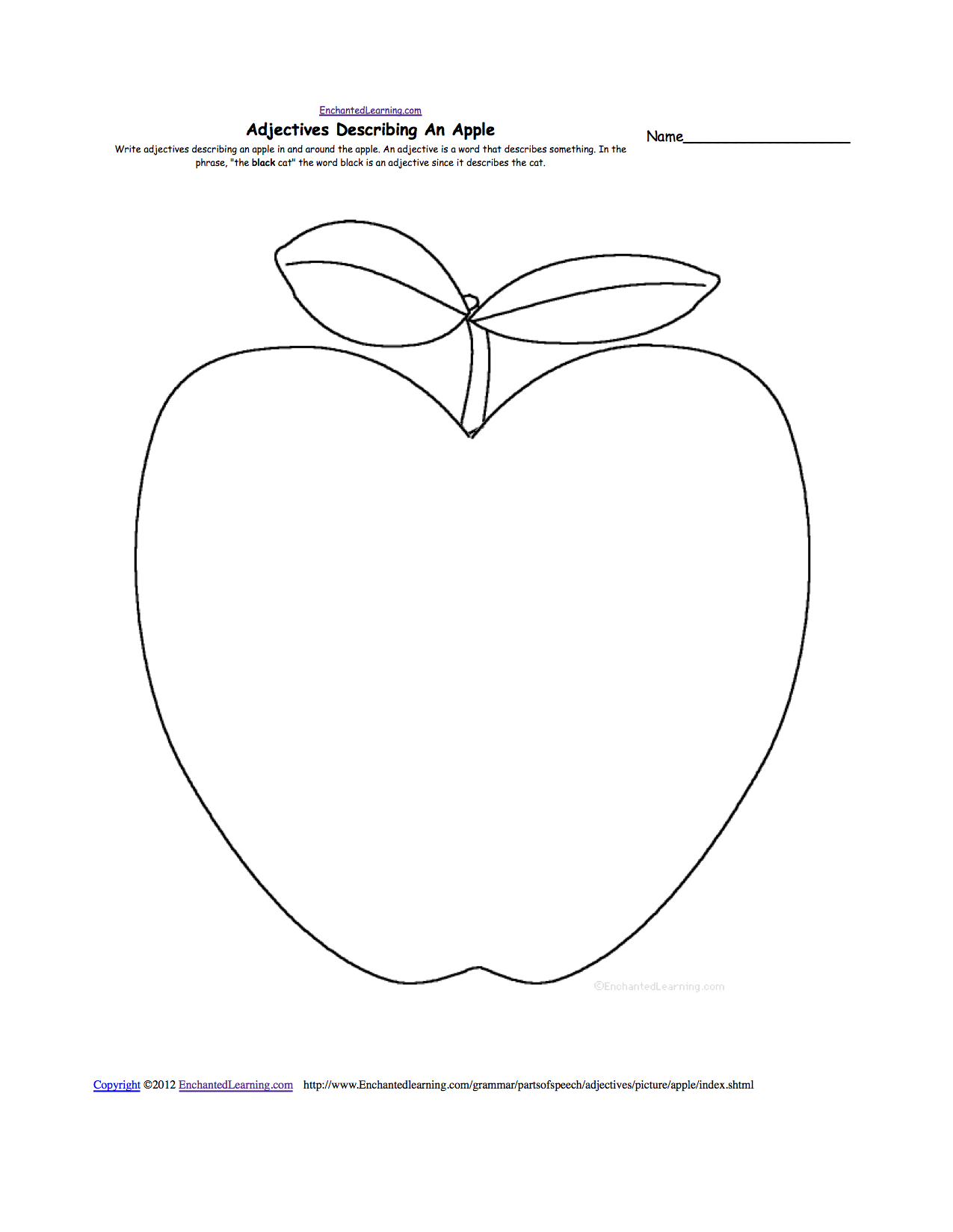 Apples At Enchantedlearning | A For Apple Worksheet Printable