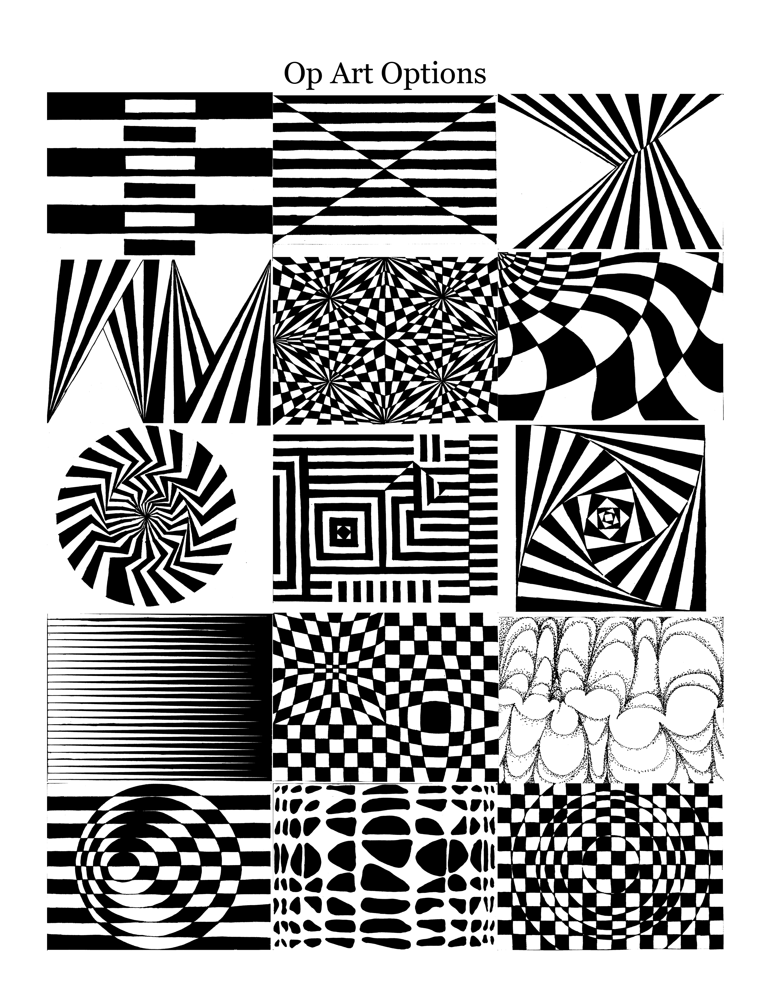 Art 8 - Art In Room A124 … | Op Art In 2019… | Optical Illusion Worksheets Printable