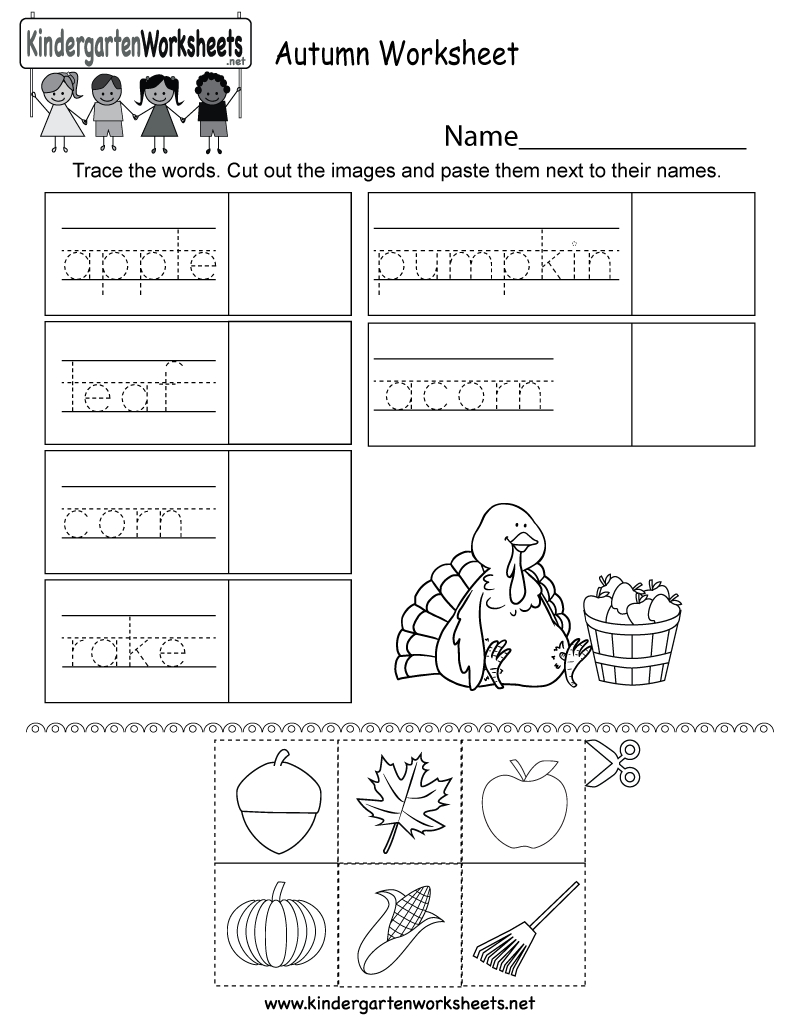 Autumn Worksheet - Free Kindergarten Seasonal Worksheet For Kids | Printable Fall Worksheets