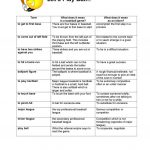 Baseball Idioms Worksheet   Free Esl Printable Worksheets Made | Softball Worksheets Printable