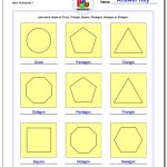 Basic Shapes | Polygon Shapes Printable Worksheets