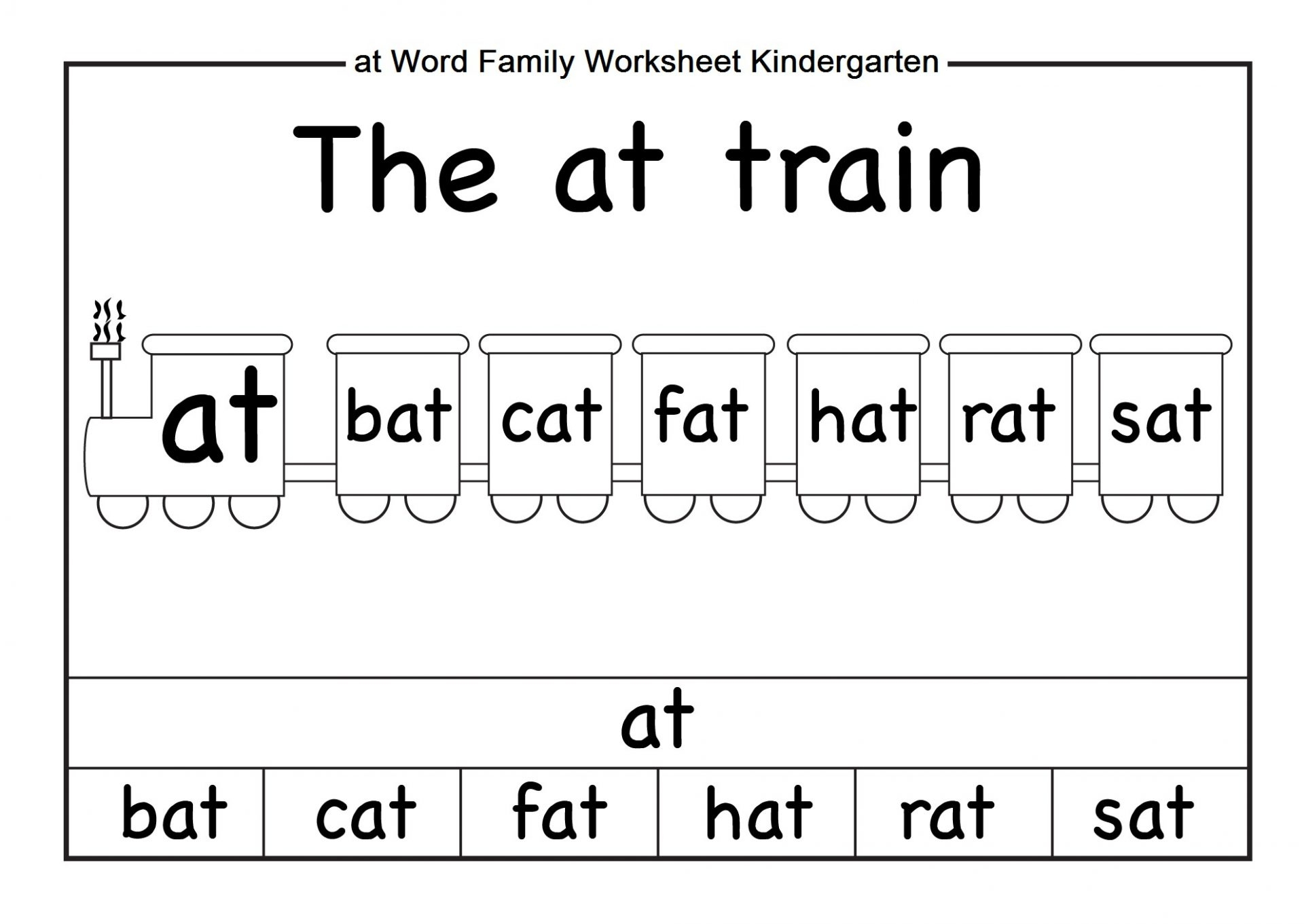 Beautiful Math Worksheets For Kindergarten Pdf Fun Worksheet In | Free Printable Word Family Worksheets For Kindergarten