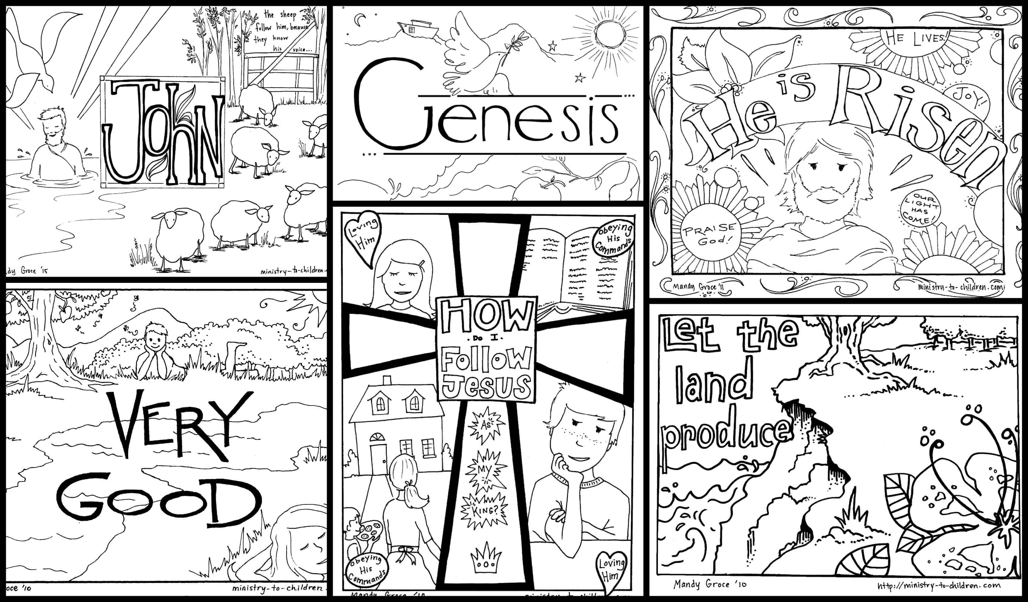 Bible Coloring Pages For Kids [Free Printables]   Free Printable Children's Bible Worksheets