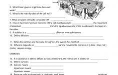 Biology Cell Worksheets | Carpe Diem Science | Pinterest – Free | Free Printable Biology Worksheets For High School