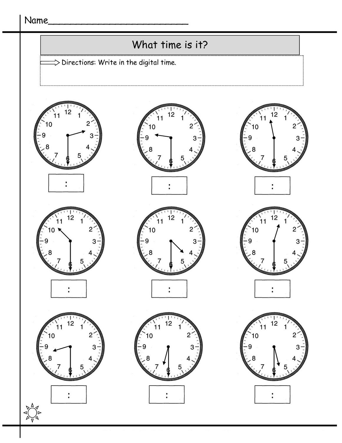 Blank Clock Worksheet To Print | Kids Worksheets Printable | Clock | Printable Clock Worksheets First Grade