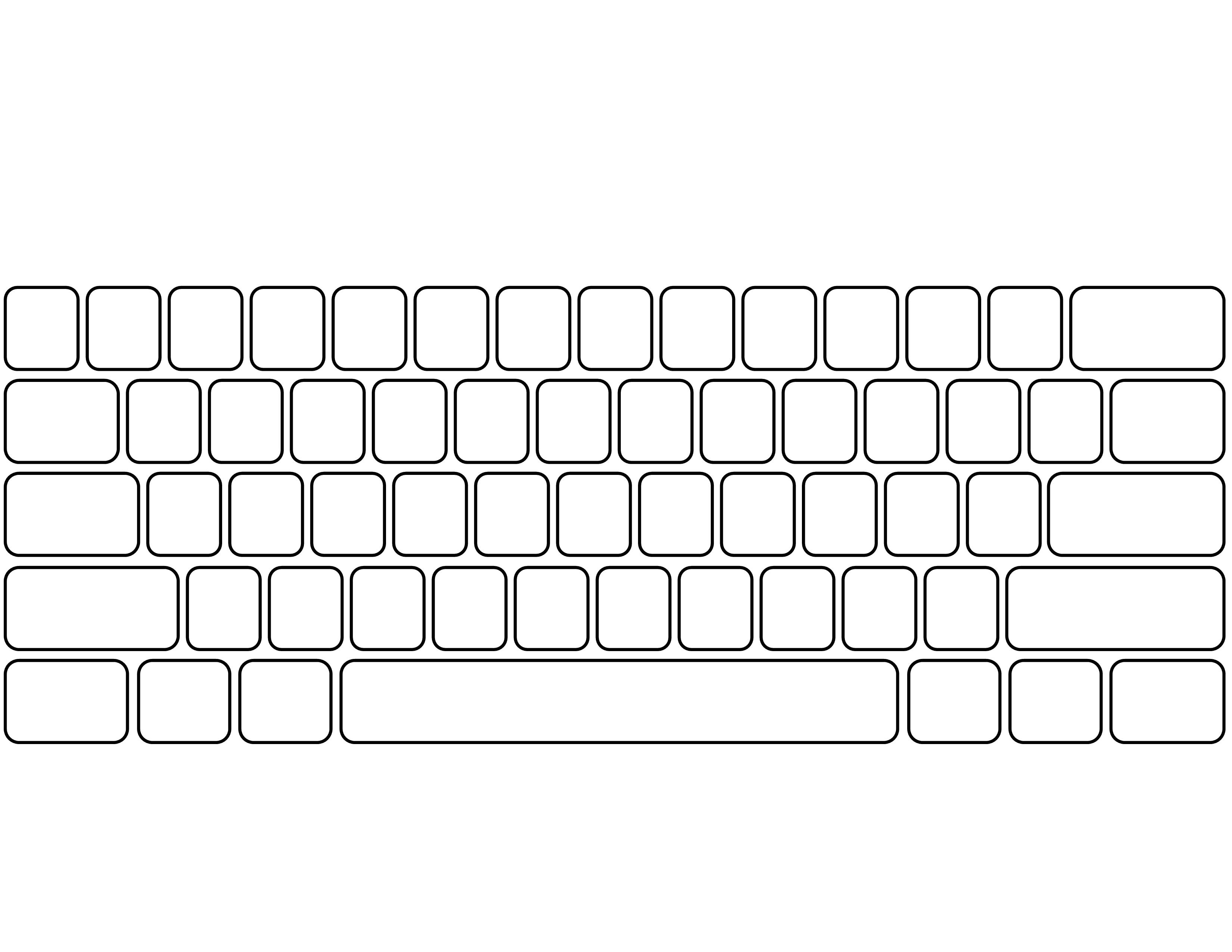 Blank Keyboard Template | Ginger's $1 Tech Shop | Computer Keyboard | Free Printable Computer Keyboarding Worksheets