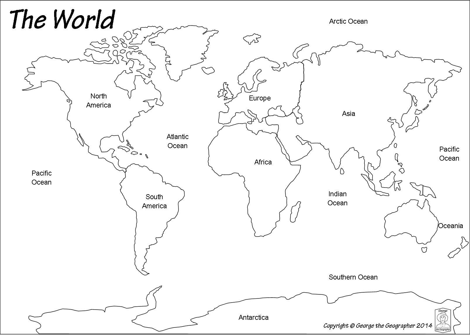 Blank World Map Worksheet Worldwide Maps Collection Free With | Free Printable World Map Worksheets