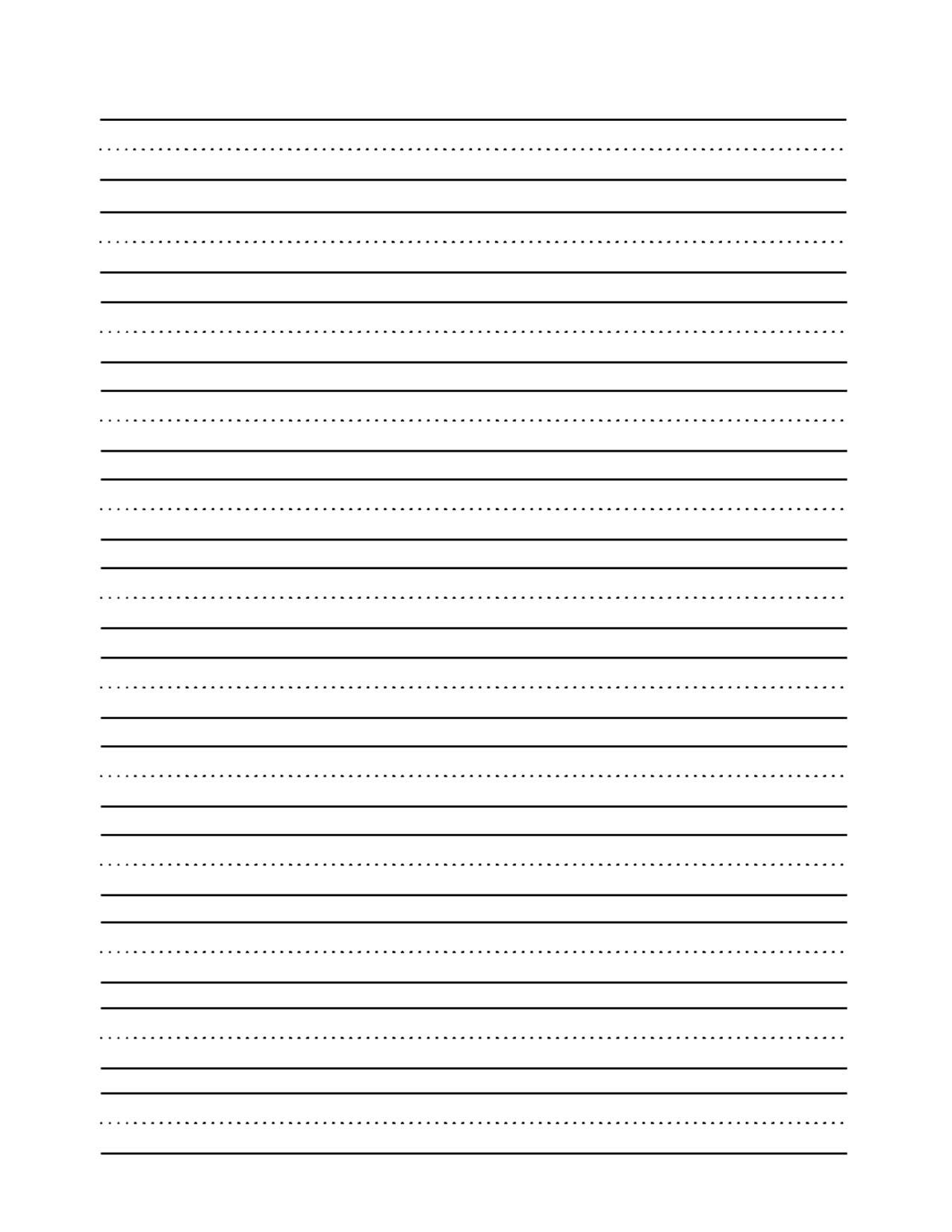 Blank Writing Sheets - Karis.sticken.co | Printable Blank Handwriting Worksheets