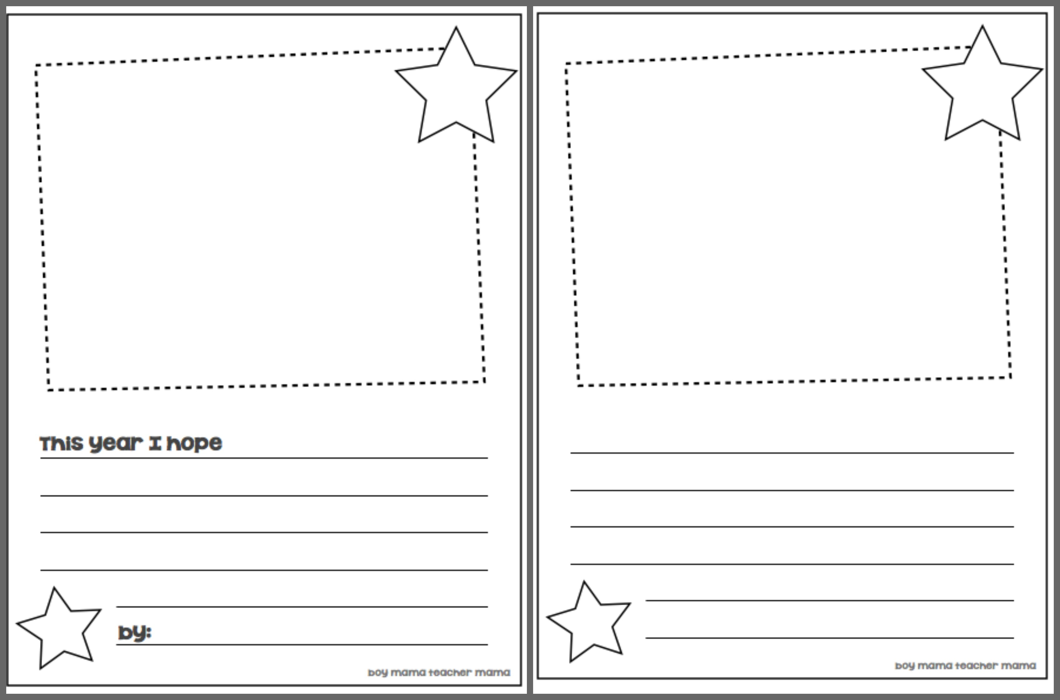Book Mama: Back To School Hopes And Dreams - Boy Mama Teacher Mama | Hopes And Dreams Printable Worksheet