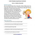 Carlo Or Kindness Rewarded Second Grade Reading Worksheets   Reading   Printable Comprehension Worksheets For Grade 3