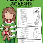 Christmas Abc Order Worksheets: Cut And Paste!   Mamas Learning Corner | Printable Abc Order Worksheets