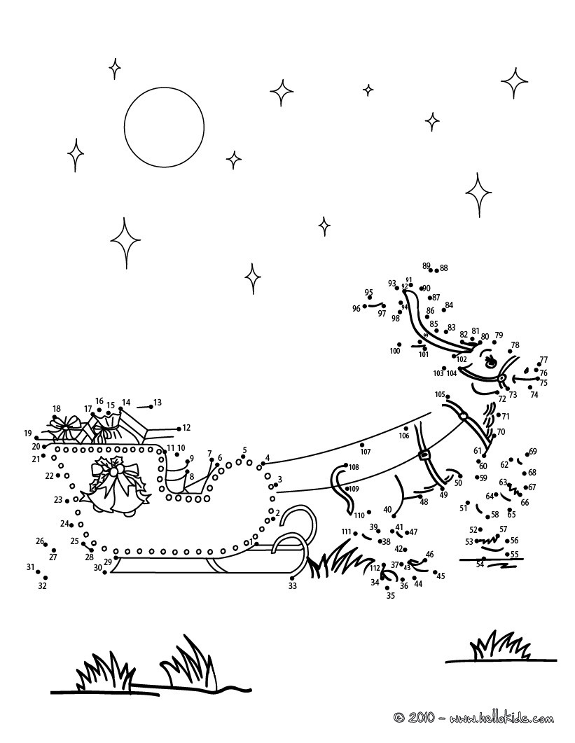 Christmas Dot To Dot - 24 Free Dot To Dot Printable Worksheets For | Free Christmas Connect The Dots Worksheets Printable