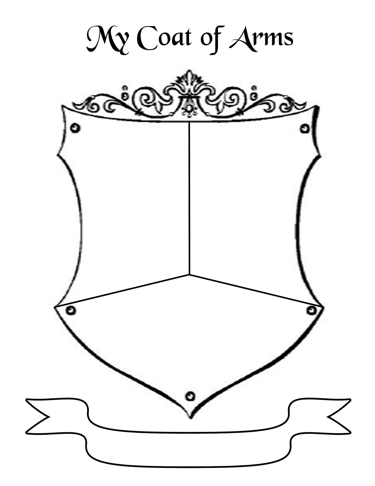 Coat Of Arms Template - Cliparts.co | Printable Coat Of Arms Worksheet